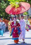 Aoi Matsuri στο Κιότο Ιαπωνία Στοκ Εικόνες