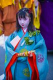 Aoi Matsuri στο Κιότο Ιαπωνία Στοκ φωτογραφία με δικαίωμα ελεύθερης χρήσης