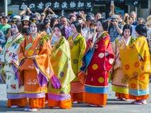 Aoi Matsuri en Kyoto Japón fotos de archivo libres de regalías