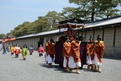 Aoi Matsuri (festival del Hollyhock) Imagenes de archivo