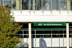 AOK muoiono Gesundheitskasse Immagini Stock Libere da Diritti