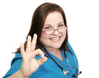 aokay ενθουσιώδης νοσοκόμα Στοκ φωτογραφίες με δικαίωμα ελεύθερης χρήσης