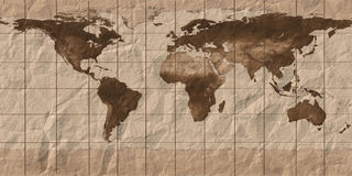 Aol world map. Old  maps of the globe Royalty Free Stock Photo
