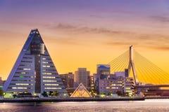 Aomori, ορίζοντας πόλεων της Ιαπωνίας Στοκ φωτογραφία με δικαίωμα ελεύθερης χρήσης