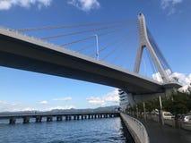 Aomori Harbour Bridge royalty free stock photography