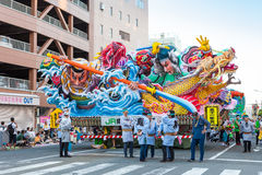 Aomori Nebuta (Lanterns float) festival. AOMORI, JAPAN - AUGUST 5,2015: Nebuta (Lanterns float) prepare for night parade in Aomori Nebuta festival. This is the Stock Photos