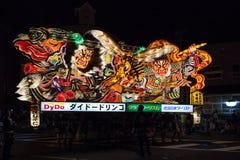 Aomori Nebuta (lyktaflöte) festival Arkivfoto