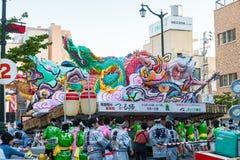 Aomori Nebuta (lyktaflöte) festival i Japan Royaltyfri Foto