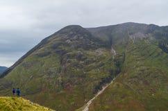 Aonach Eagach ridge above Loch Achtriochtan in Glencoe, Scotland Royalty Free Stock Photos
