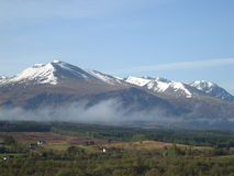 Aonach Mor. A zoom into the north face of Aonach mor in the Scottish highlands Royalty Free Stock Image