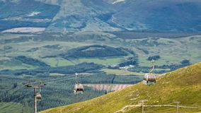 View at the top of Ben Nevis Range and Gondola, Fort William, Scotland stock image