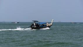 Aonang Beach, Longtail Boats. Royalty Free Stock Photo