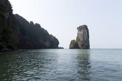 Aonang plaża Nabrzeżna linia Zdjęcie Stock