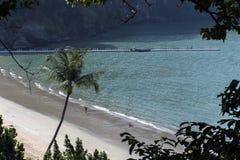 Aonang plaża Nabrzeżna linia Zdjęcia Stock
