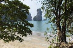 Aonang plaża Nabrzeżna linia Zdjęcie Royalty Free
