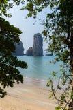 Aonang plaża Nabrzeżna linia Zdjęcia Royalty Free