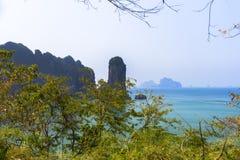 Aonang plaża Nabrzeżna linia Fotografia Stock