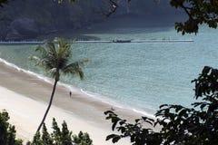 Aonang plaża Nabrzeżna linia molo Obraz Stock