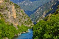 Aoos rzeka Obraz Stock
