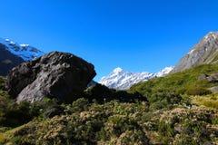 Aoraki/Berg-Koch, Neuseeland stockfotos