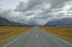 Aoraki, góra Kucbarski park narodowy, Nowa Zelandia Obrazy Stock
