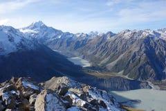 Aoraki-Gletscher Lizenzfreies Stockbild