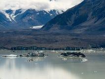 aoraki kucbarski lodowa góra lodowa jezioro mt np tasman Obrazy Royalty Free
