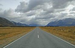 Aoraki monteringskock National Park, Nya Zeeland Arkivbilder