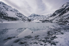 Aoraki/Mount Cook at Hooker Valley in New Zealand Royalty Free Stock Photos