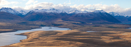 Aoraki mount Cook from Mt John's view Royalty Free Stock Photography