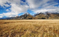 Aoraki Mount Cook National park. Scenic view of Aoraki Mount Cook National park royalty free stock photography