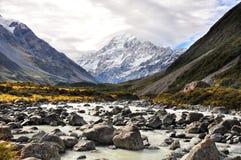 Aoraki Mount Cook National Park Stock Photo