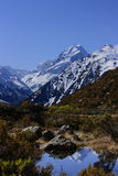 Aoraki/Mt. Cook over Red tarns royalty free stock photo