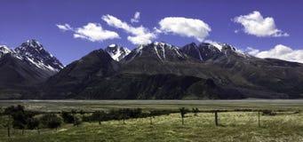Aoraki zet Cook National Park Nieuw Zeeland op royalty-vrije stock afbeeldingen