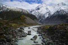 Aoraki/zet Cook National Park, Nieuw Zeeland op Stock Afbeelding