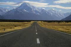 Aoraki/zet Cook, Nieuw Zeeland op Stock Fotografie