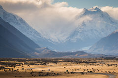 Aoraki zet Cook, Nieuw Zeeland op Royalty-vrije Stock Foto