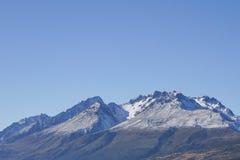 AORAKI ZET KOK, NIEUW ZEELAND 16TH APRIL 2014 OP; Verbazende mening van Mont Cook South Island, Nieuw Zeeland Stock Foto
