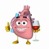 Aorte souriante - glace de vin illustration stock