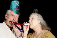 Años Nuevos de diversión del partido Imágenes de archivo libres de regalías