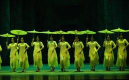 Años- verdes en segundo lugar de acto de los eventos del drama-Shawan de la danza del pasado Foto de archivo libre de regalías