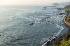 Aoshima Island coast with washboard of demon Stock Image