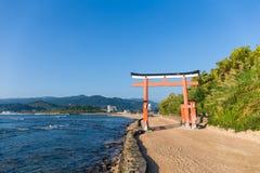 Aoshima Island with japanese torii Royalty Free Stock Photo