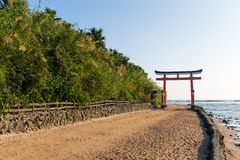 Aoshima Shrine in Aoshima Island Stock Images