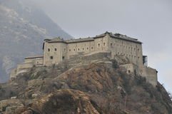 aosta城堡d意大利语瓦尔 免版税库存图片