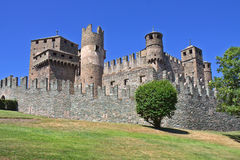 aosta城堡fenis意大利 库存照片