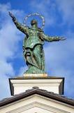 Aosta, Ιταλία, γλυπτό στη στέγη του καθεδρικού ναού Aosta Στοκ φωτογραφίες με δικαίωμα ελεύθερης χρήσης