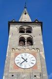Aosta, Ιταλία, πύργος ρολογιών του καθεδρικού ναού σε Aosta Στοκ φωτογραφίες με δικαίωμα ελεύθερης χρήσης