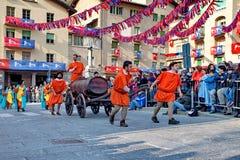 Aosta Ιταλία του pont-Άγιος-Martin ιστορικό καρναβάλι †«Pont Άγιος Martin Valle δ `, στις 27 Φεβρουαρίου 2017 Στοκ φωτογραφίες με δικαίωμα ελεύθερης χρήσης