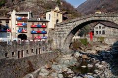 Aosta Ιταλία του pont-Άγιος-Martin ιστορικό καρναβάλι †«Pont Άγιος Martin Valle δ `, στις 27 Φεβρουαρίου 2017 Στοκ Φωτογραφίες